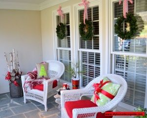 See These Simple Outdoor Decorations Done With Plain Green Wreath Made Christmas Plant Branches
