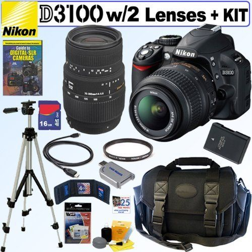Nikon D3100 14.2MP Digital SLR Camera with 18-55mm f/3.5-5 ...