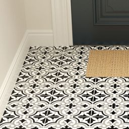Wickes Melia Charcoal Patterned Ceramic Wall Floor Tile 200 X 200mm Wickes Co Uk In 2020 Colorful Tile Floor Hallway Tiles Floor Patterned Floor Tiles
