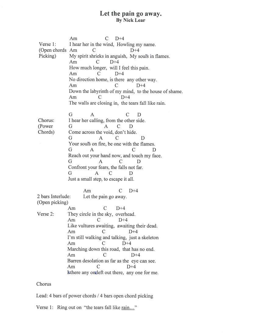 Between The Bars Lyrics Chords