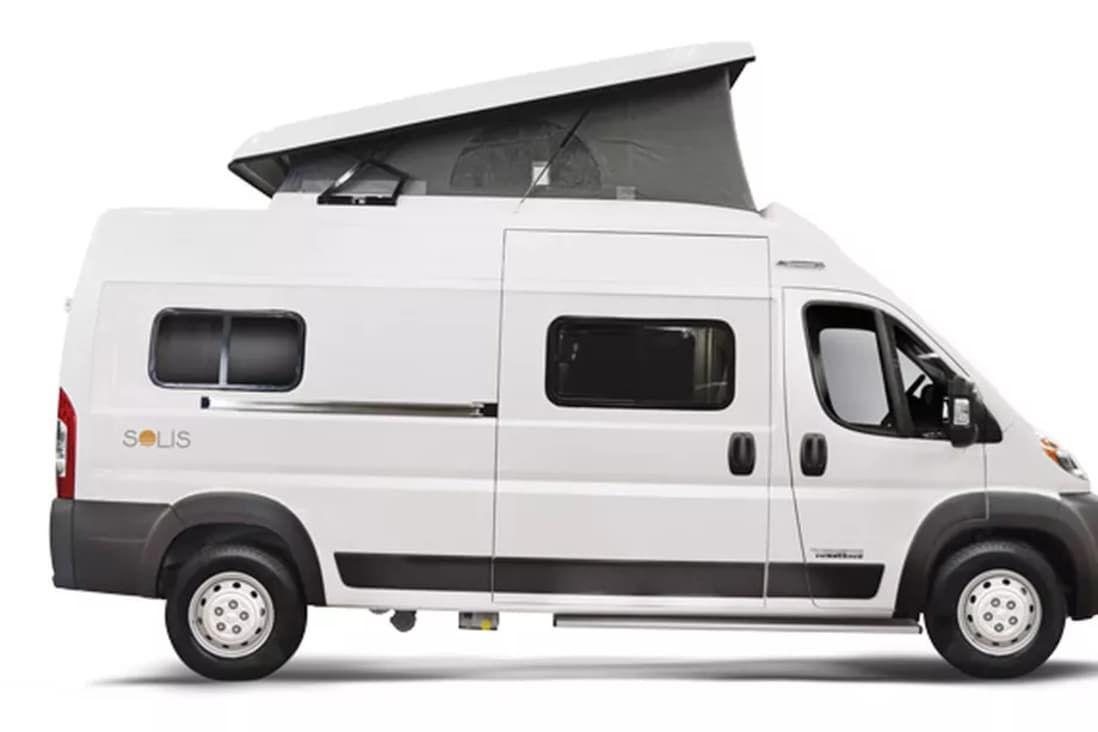 Winnebago S First Pop Top Camper Van Will Comfortably Fit Your Family Of Four Pop Top Camper Class B Camper Van Camper Van