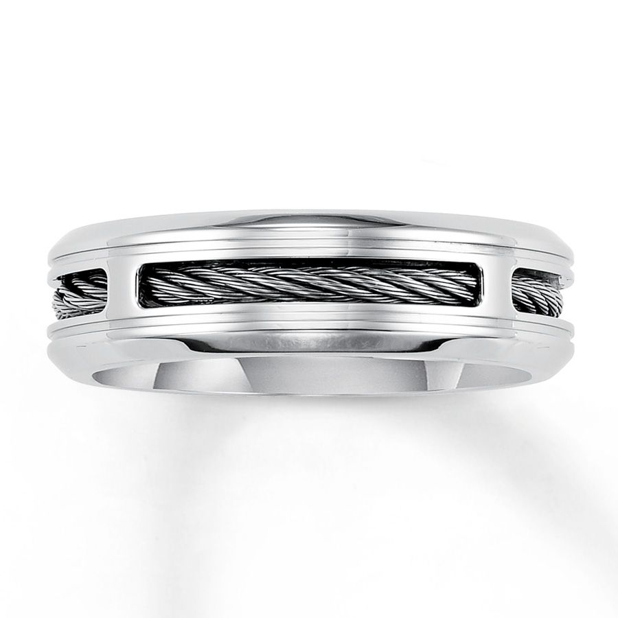 Kay Jewelers 179 Mens Wedding Band Stainless Steel 7mm Kevins