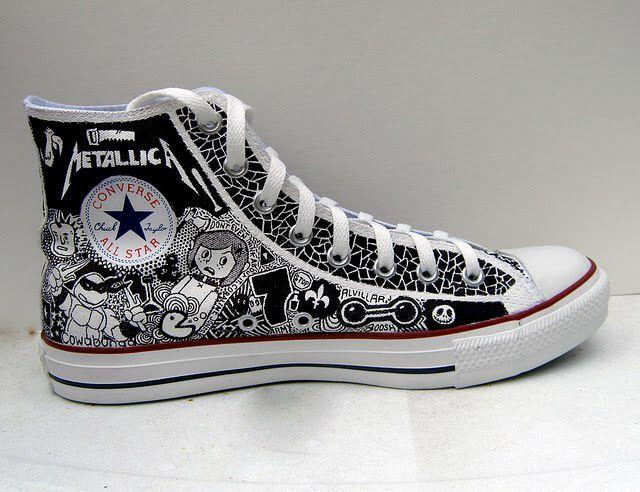1ea6358551da Metallica band converse