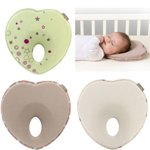 MEMORY FOAM BABY INFANT CHILD PILLOW SLEEPING HEAD SUPPORT ANTIFLAT HEAD CUSHION
