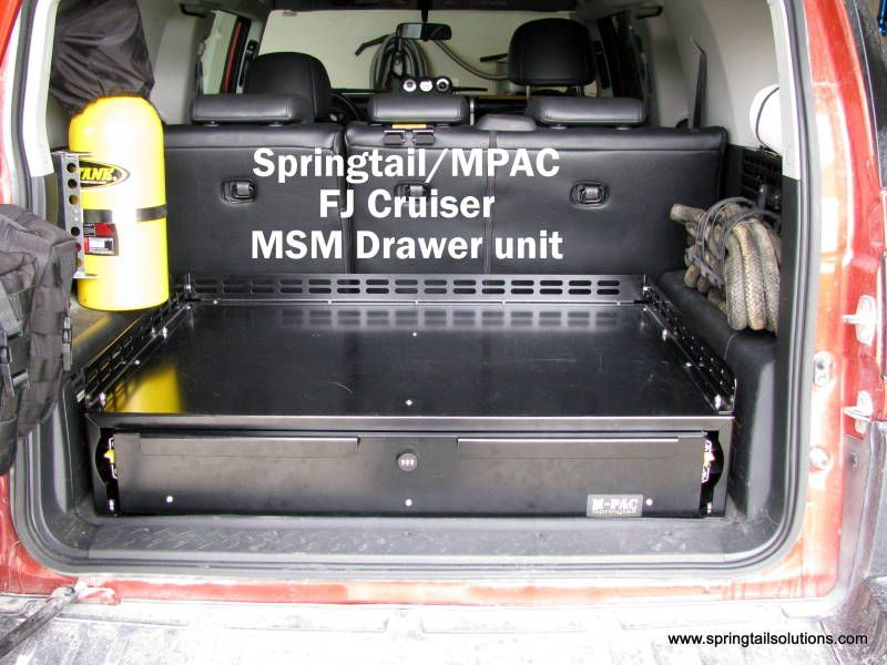 fj cruiser rear door storage - Google Search
