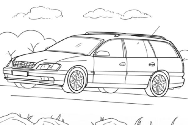 Opel Omega Caravan coloring page: Opel Omega Caravan This ...