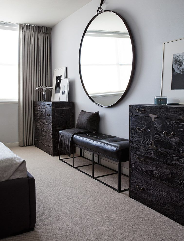 Architecture Contemporary Large Round Mirror For Bedroom With Hanging Prepare 12 Wingbac Large Round Mirror Round Carpet Living Room Mirrored Bedroom Furniture