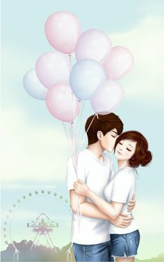 Korean cute Love Wallpaper : korean couple cartoon - Google Search cute Pinterest cartoon, Google search and Searching