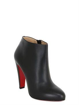 "christian louboutin - mujer - botas - botas ""bobsleigh"" de piel 100mm"
