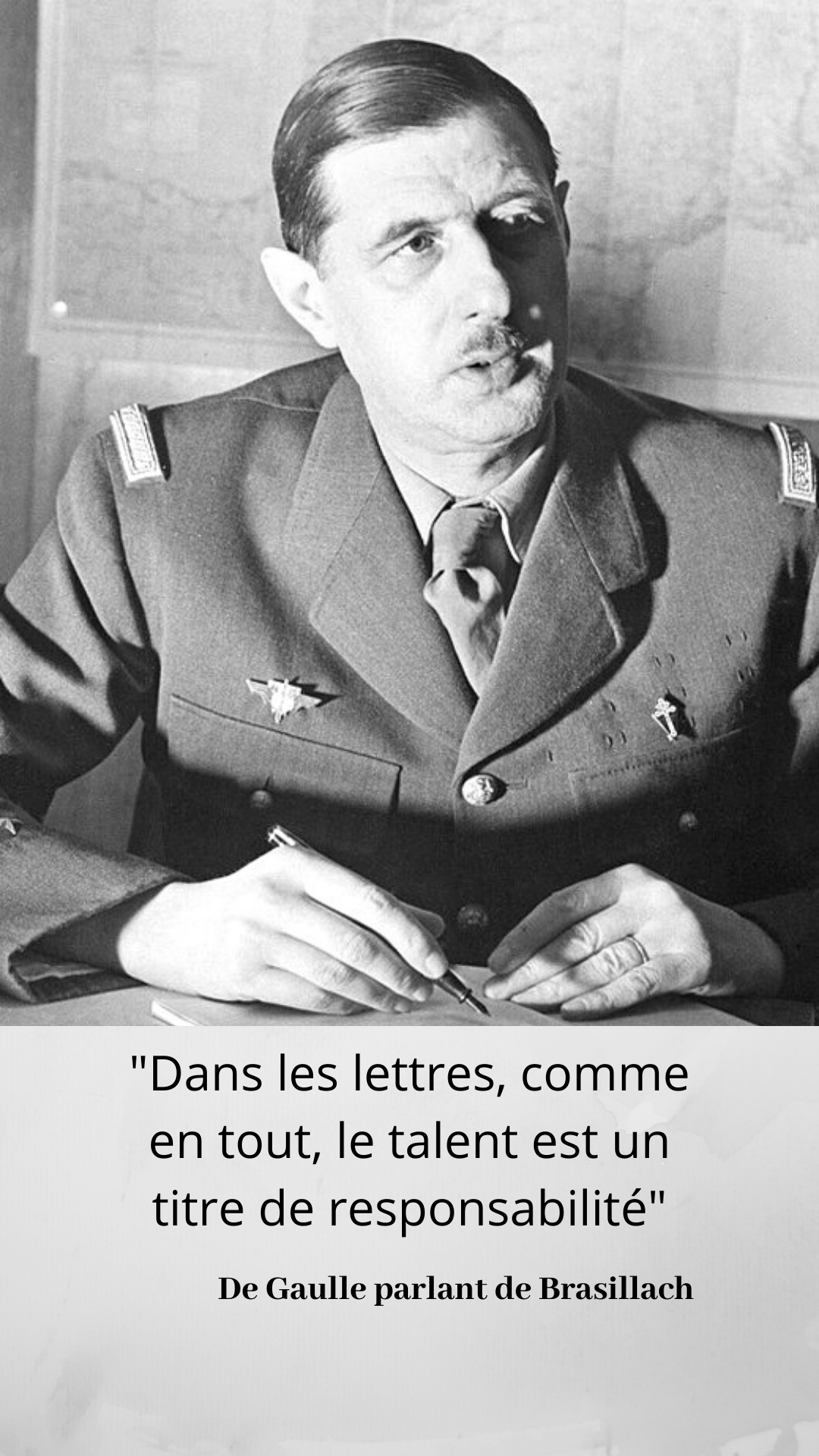 19 Janvier 1945 Condamnation A Mort De Robert Brasillach Gaulle Citation Responsabilites