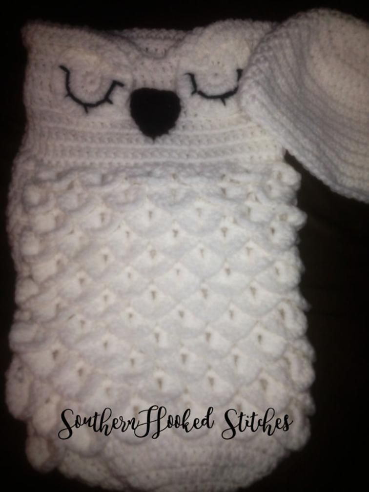Snowy Owl Cocoon | Craftsy FREE PATTERN | Crazy for Crochet ...
