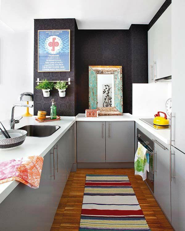 kleine küche einrichten innendesign ideen Wohnen Pinterest - Küche Einrichten Ideen