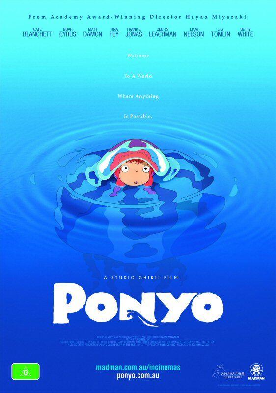 Ponyo Movie poster - Google Search | Lights, Camera ...