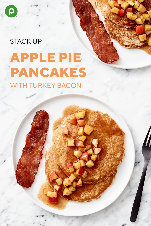 Apple Pie Pancakes with Turkey Bacon Recipe Apple pie