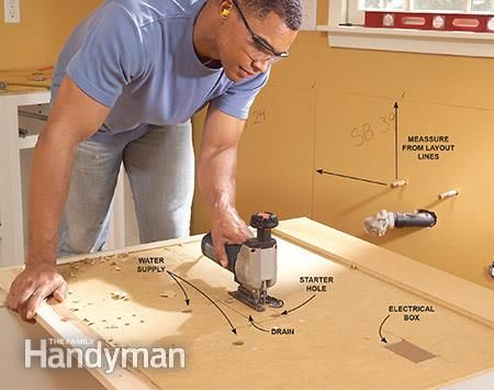 How to Install Kitchen Cabinets - Installing kitchen cabinets, Cabinet installation diy, Installing cabinets, Kitchen installation, Redo kitchen cabinets, Diy kitchen cabinets - With these basic techniques, you can learn how to install kitchen cabinets straight, solid and true
