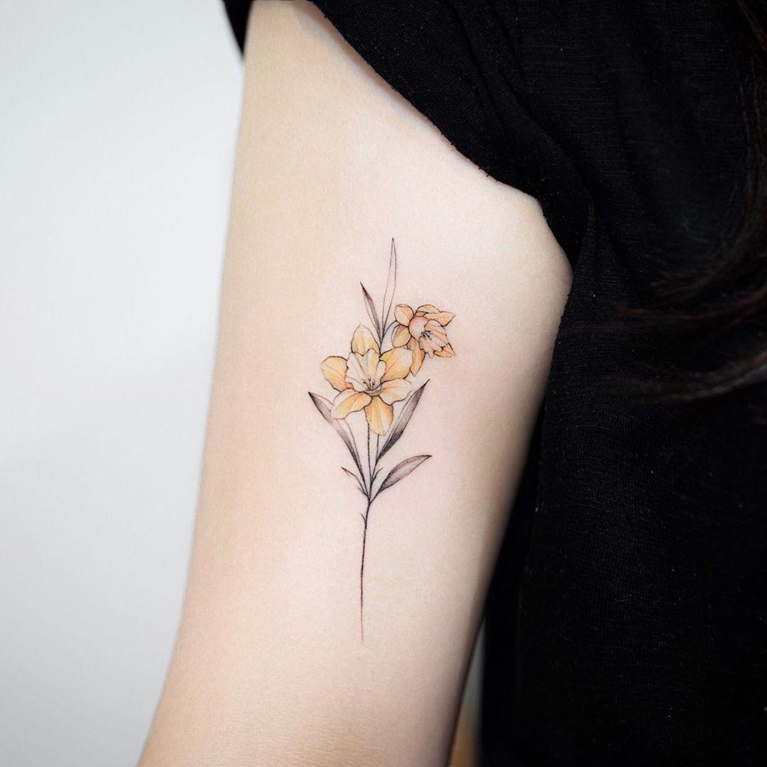 Tattoos Week 165 Likes Comments 3 Instagram Jeonju Tattoos Tattoos Week 165 Likes Comments In 2020 Birth Flower Tattoos Daffodil Tattoo Narcissus Flower Tattoos