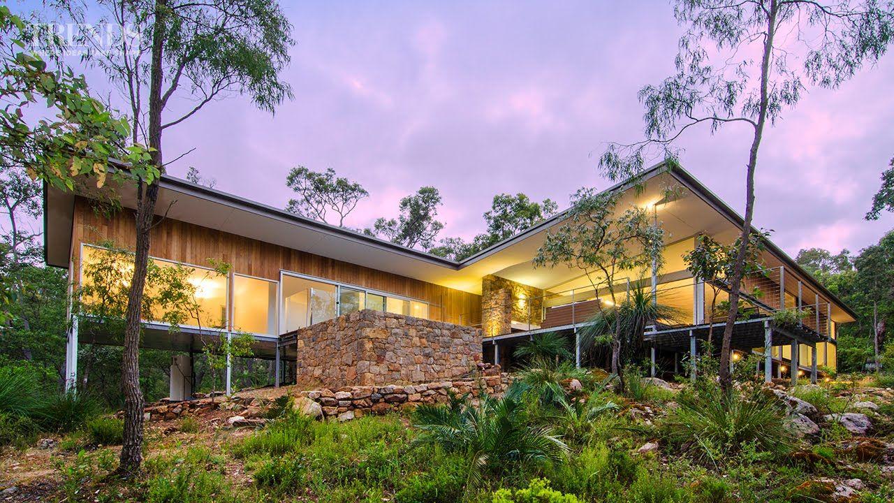 Modern New Home In Bush Setting, Western Australia, Features Teak .