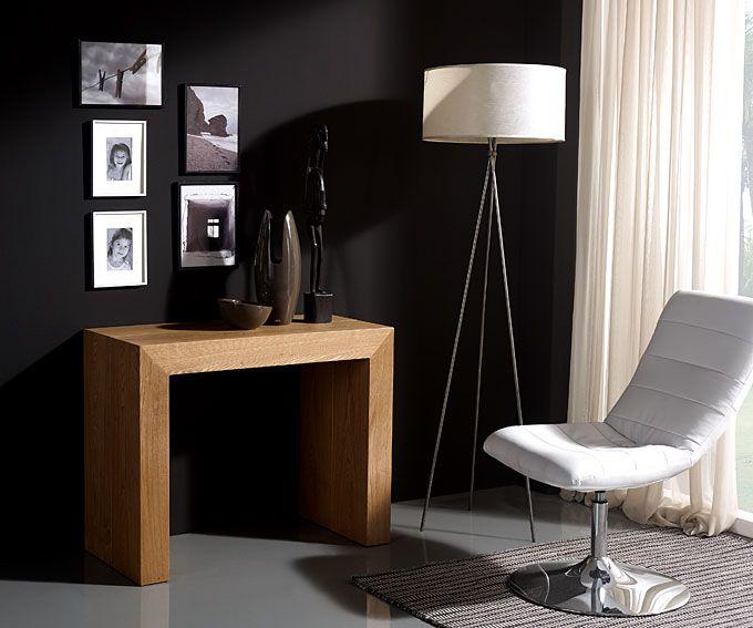 Consola mesa extensible roble hogar y muebles pinterest - Mesas grandes de comedor ...