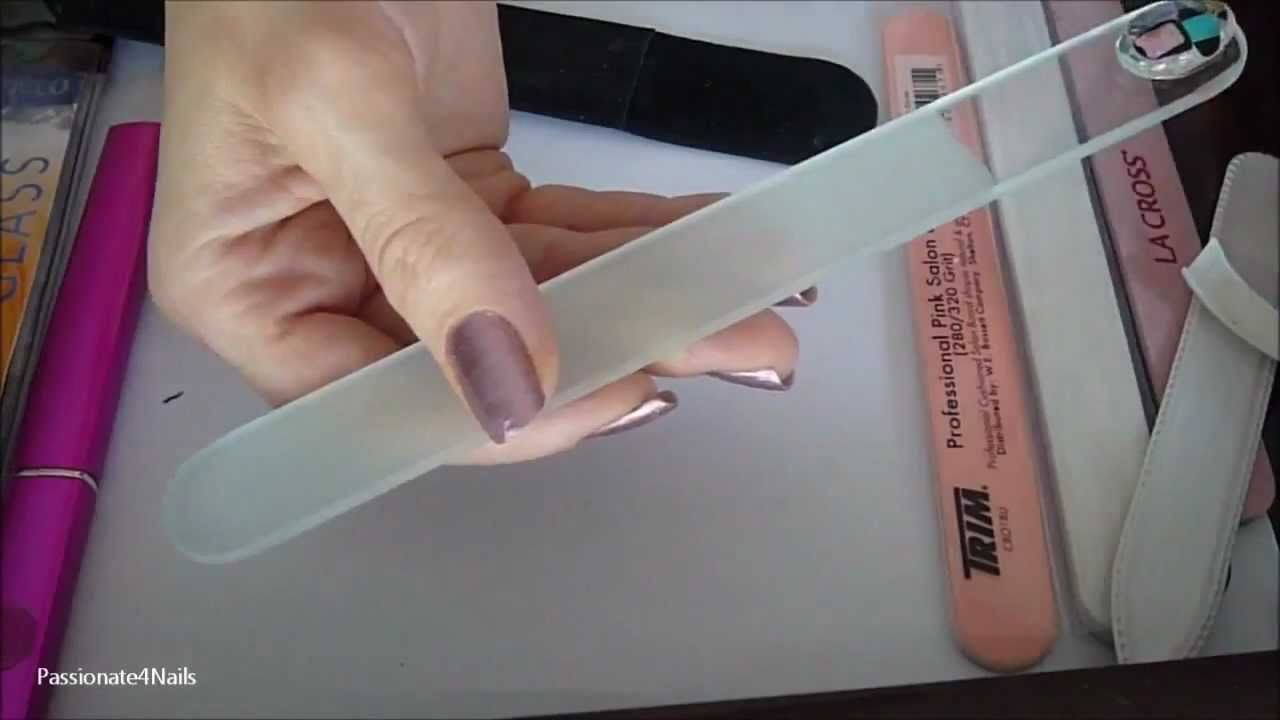 On different types of nail files and cleaning. She uses an emery ...