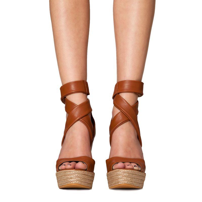 Mas34 Andy Cuña de marrón Zapatos De piel Primavera Cuñas zIHwgq
