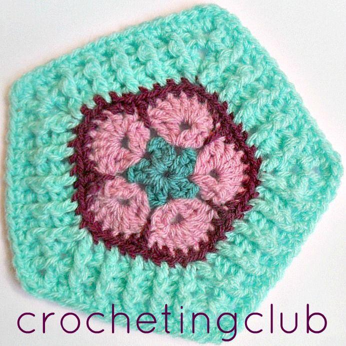 crochetingclub: african flower granny. 4, 5, 6, 8 petals   flores ...