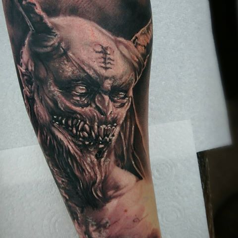 Lyndenchadwicktattoo Evil Demon Tattoo Evil Tattoos