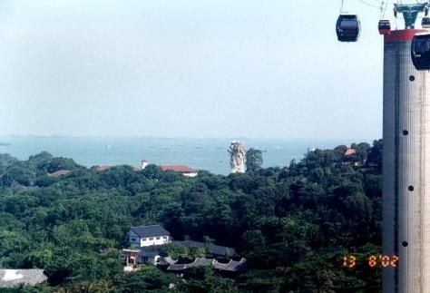 cable car to Sentosa island Singapore