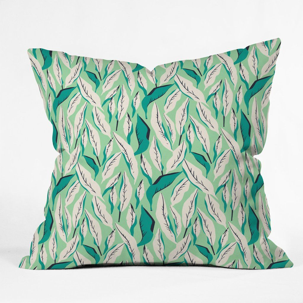 Holli Zollinger Jungle Palm Tropica Outdoor Throw Pillow Deny Designs Home Accessories Green Throw Pillows Throw Pillows Outdoor Throw Pillows