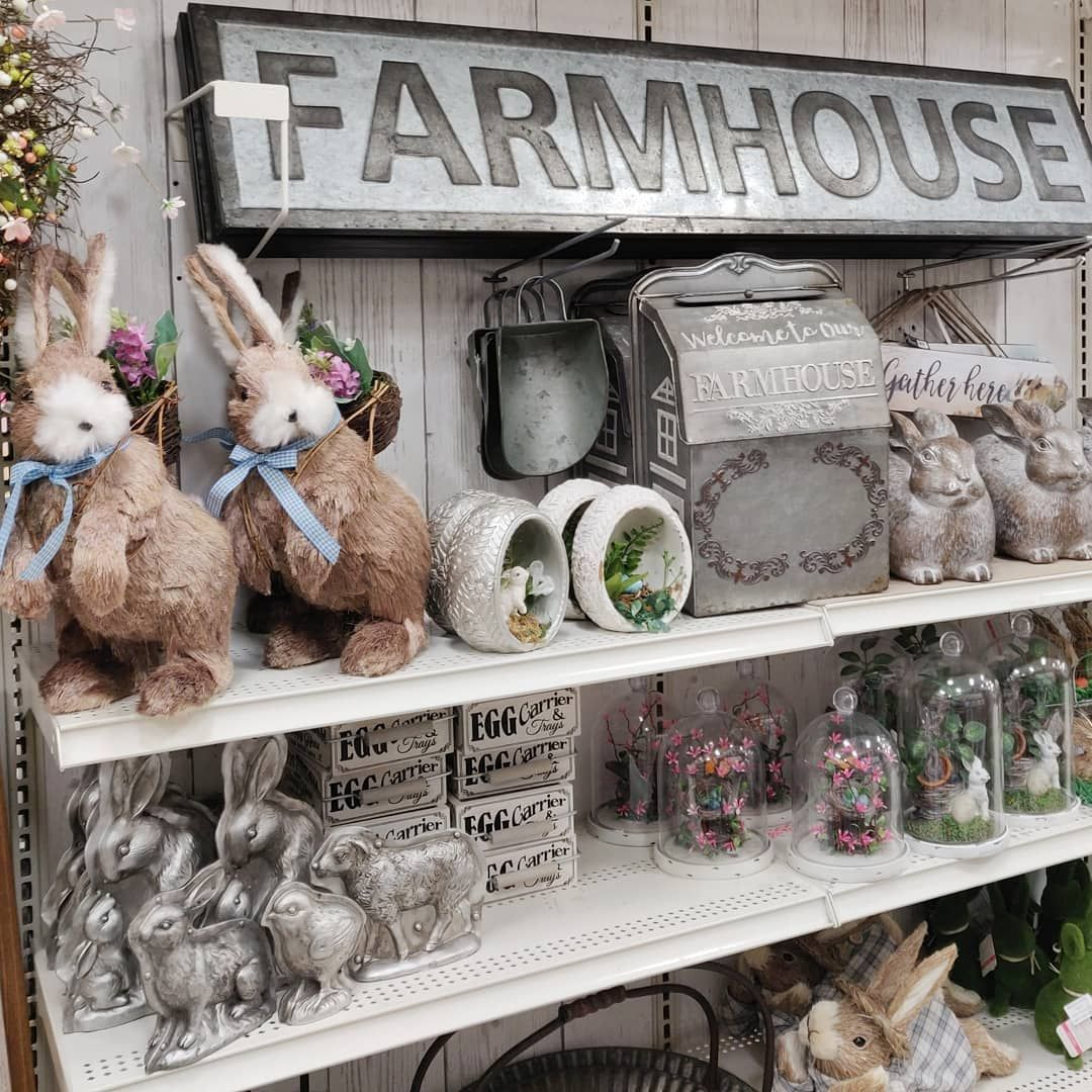 Michaels Easter Decor 2019 Lots Of Farmhouse And Traditional