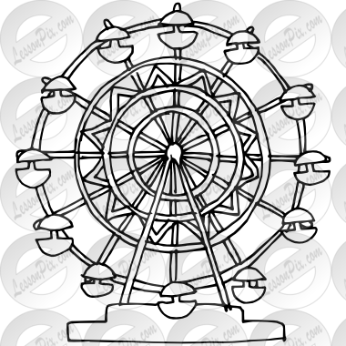 ferris wheel drawing Ferris Wheel Outline Color wheel