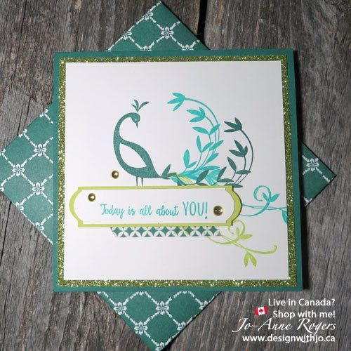 stampin up beautiful peacock saleabration 2018  hand