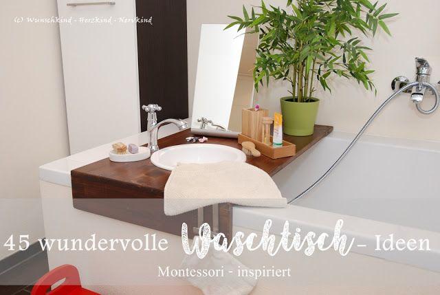 Montessori Inspirierte Waschtische Kinderwaschtisch Waschtisch Nach Montessori Kinderwaschbecken Pflege Der Eigenen Per Waschtisch Kinder Badezimmer Wasche