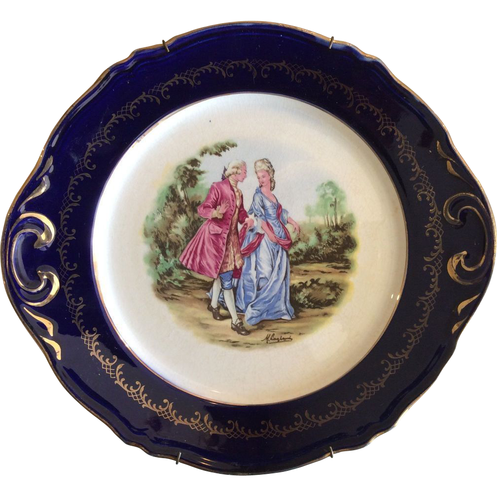 French Lu0027Amandinoise Marquises decorative plate (Saint Amand)  sc 1 st  Pinterest & French decorative plate Lu0027Amandinoise Marquises (Saint Amand) | Ruby ...