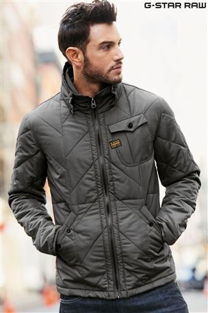 G-Star Grey Quilted Jacket