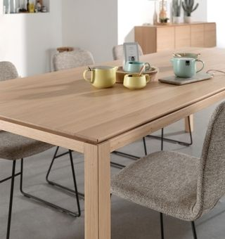 Massief houten tafel #eetkamer - Gero Wonen   EETKAMERS   Pinterest