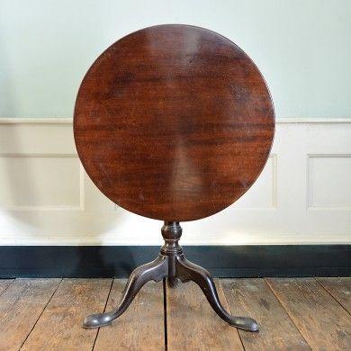 A Georgian mahogany tripod table,