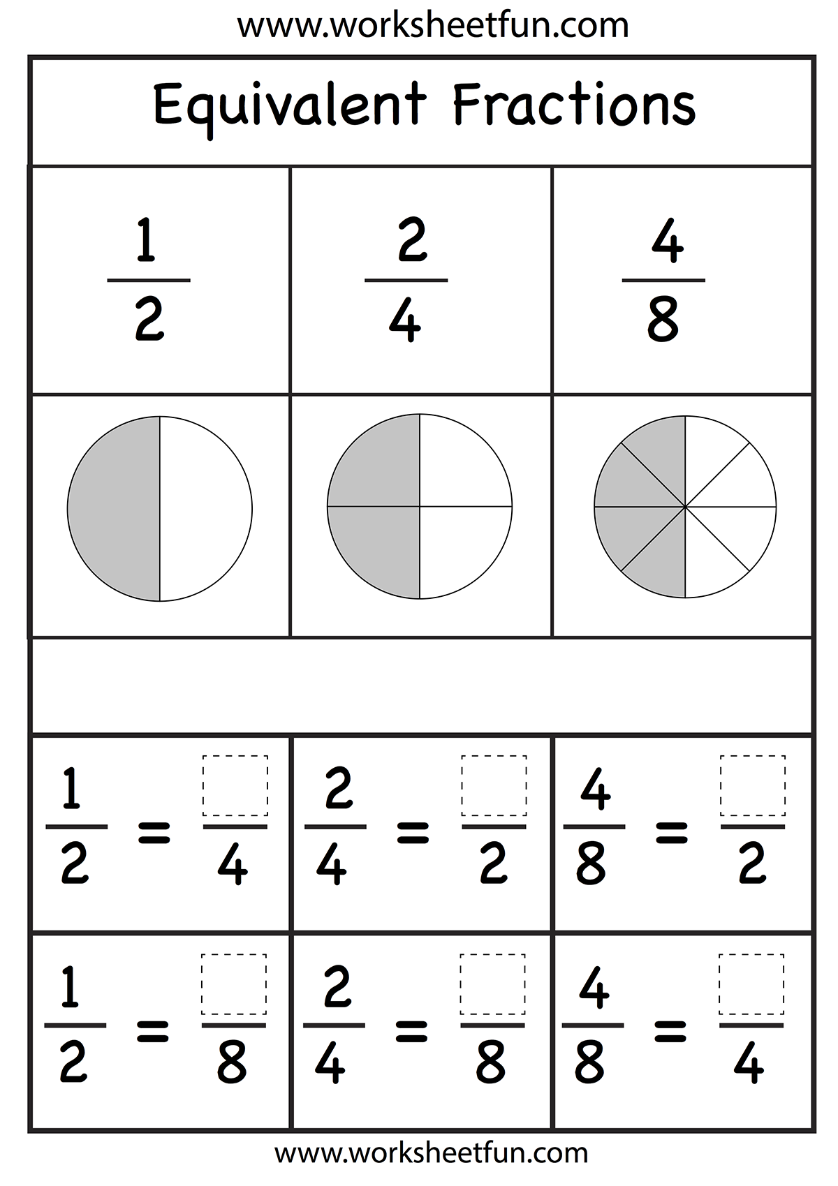 Fractions Worksheet With Images