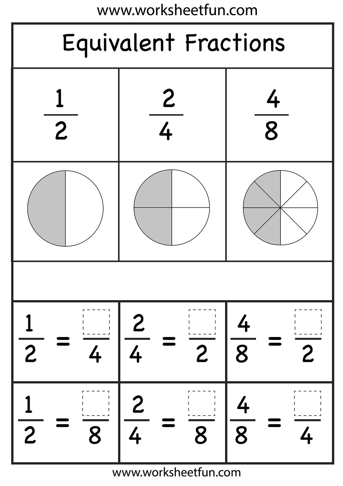 Fractions Worksheet Homeschooling Math Fractions Pinterest