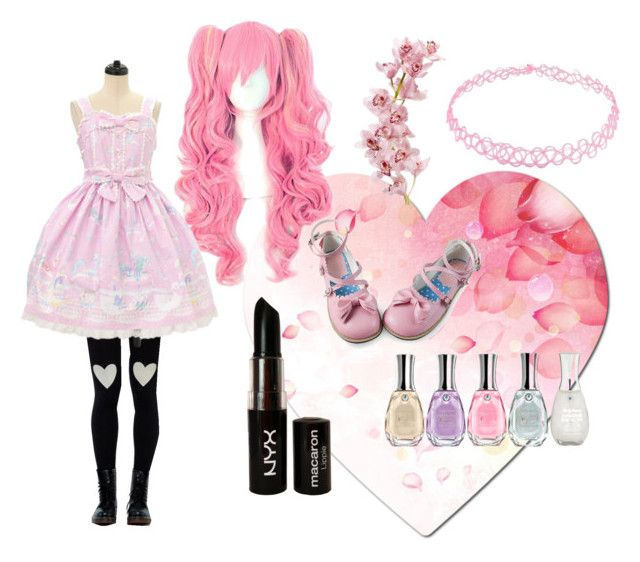 """""""pink and Pretty"""" by springtime18x37 on Polyvore featuring Sally Hansen, NYX, women's clothing, women, female, woman, misses and juniors"""