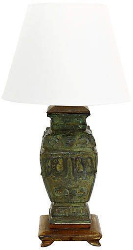 Antique Chinese Bronze Urn Lamp In 2019 Urn Ginger Jar Lamps