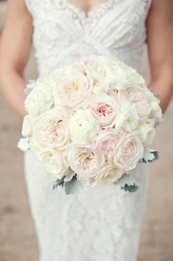 bridal bouquet white roses blush peony hydrangeas