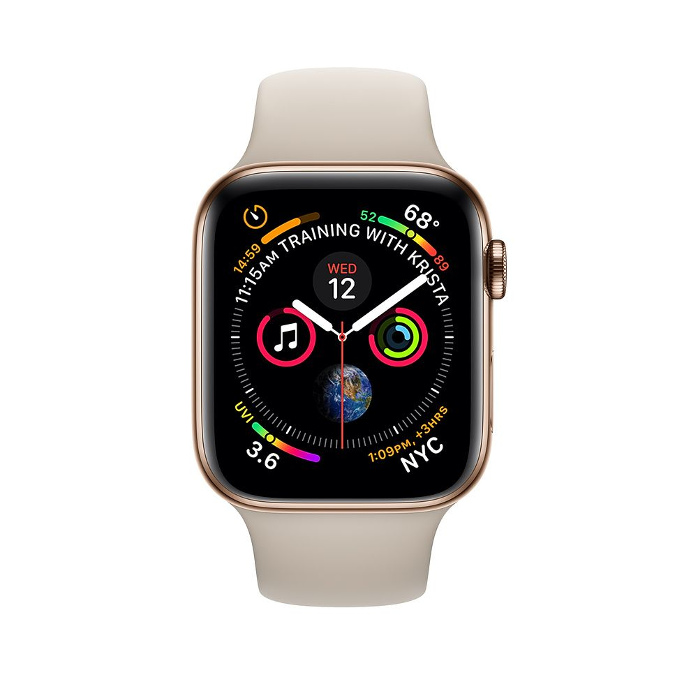 Apple Watch Gold Stainless Steel Case With Stone Sport Band Apple Apple Watch Replacement Bands Apple Watch New Apple Watch