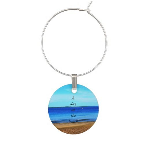 Wine Charm - Day At The Beach
