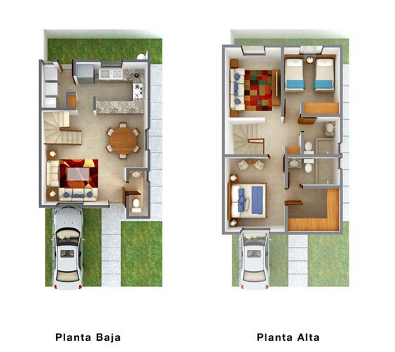 Planos de casas plantas arquitect nicas de casas y for Fachadas de apartamentos modernas