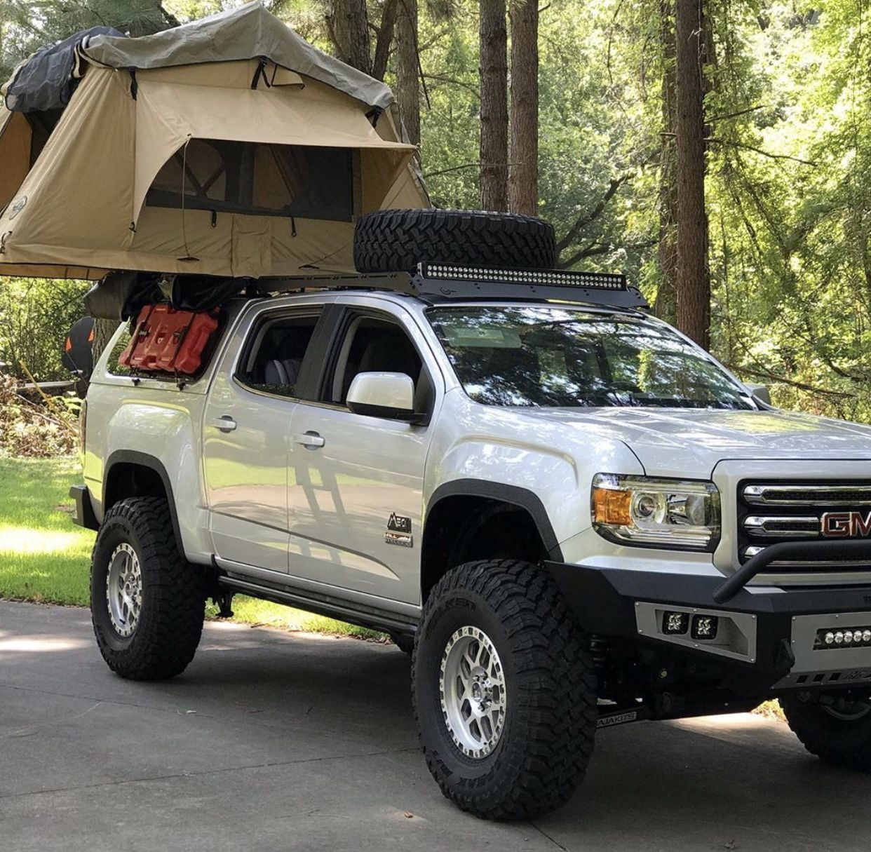 2017 Silver Gmc Canyon Engine Duramax Diesel Suspension Bds 5 Coil Over Conversion Kit Baja Kit Pre Runner Kit Lockers Facto Gmc Canyon Roof Top Tent Gmc