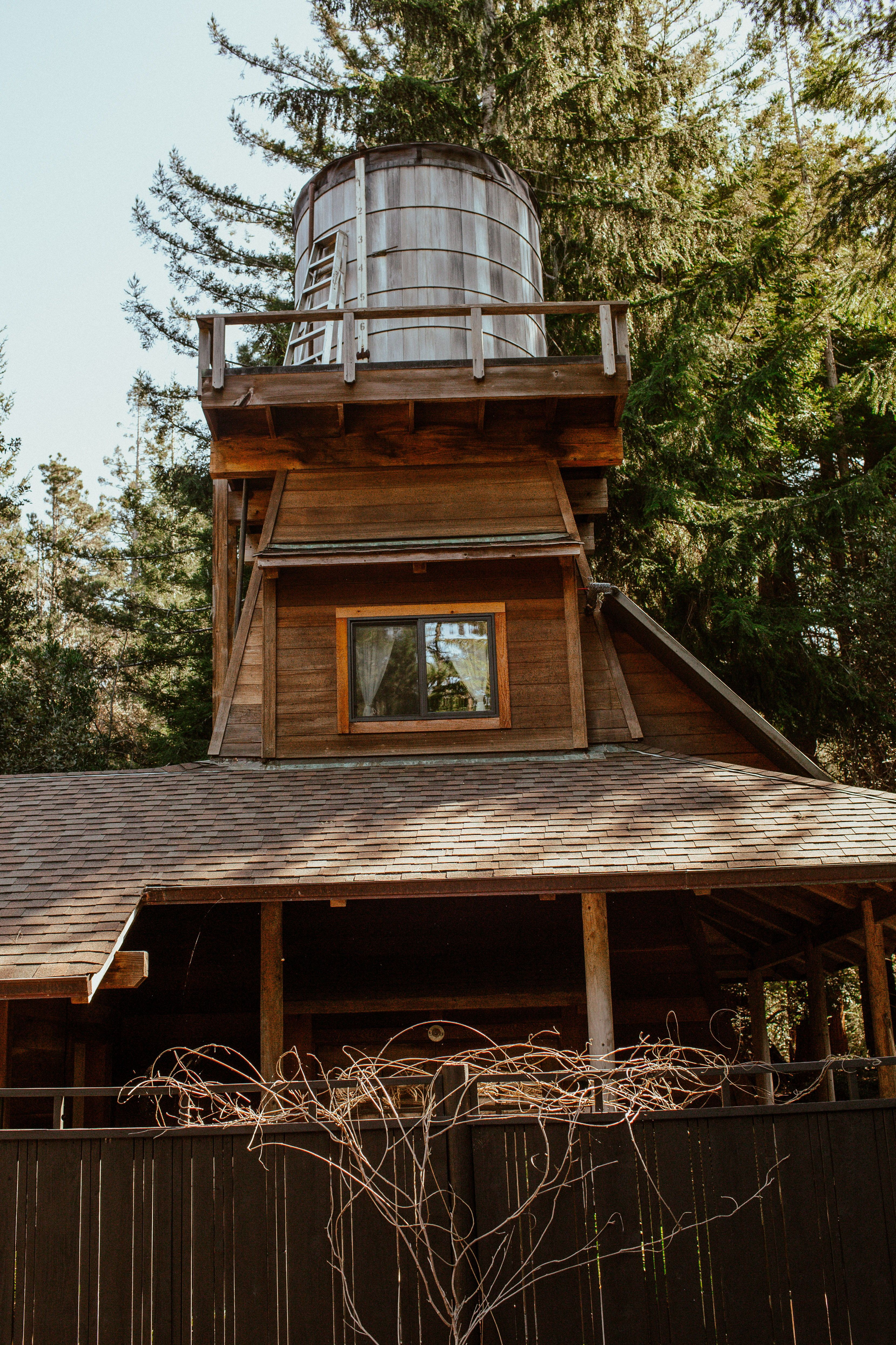 A Whimsical OffTheGrid Water Tower Airbnb in Mendocino