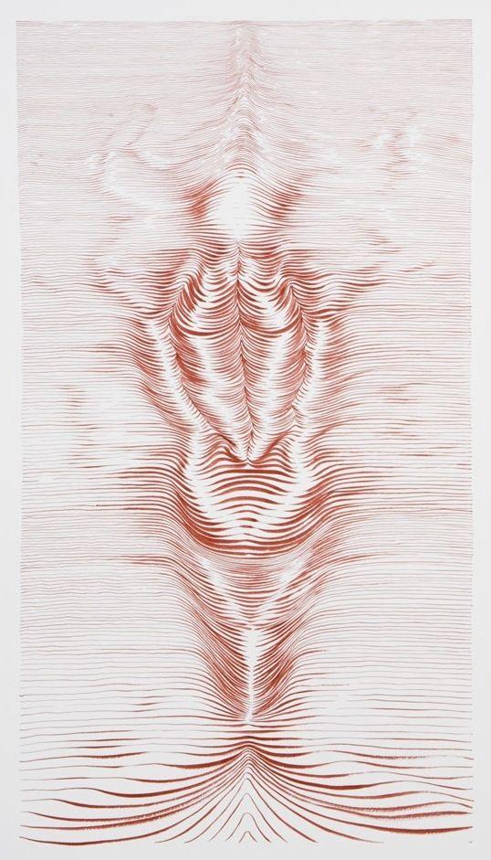 """ESCUDERO, Juan (Bilbao, 1966).  """"Sirena"""", 2010.  Tinta sobre papel.  Se expedirá certificado de autenticidad a petición del comprador.  Enmarcado.  Medidas: 100 x 70 cm."""