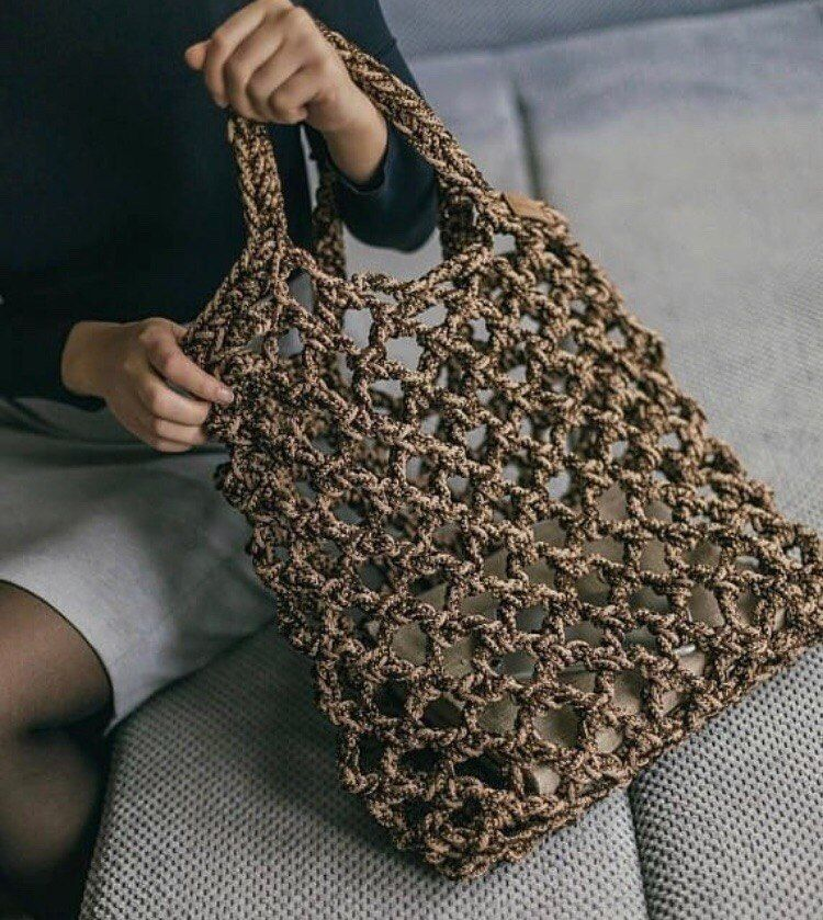 купить трикотажную пряжу лента I фурнитуру сумки Knitted Bags