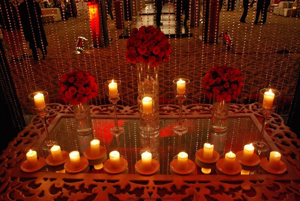 Mehndi Flower Arrangements : Mehndi table decorations ideas