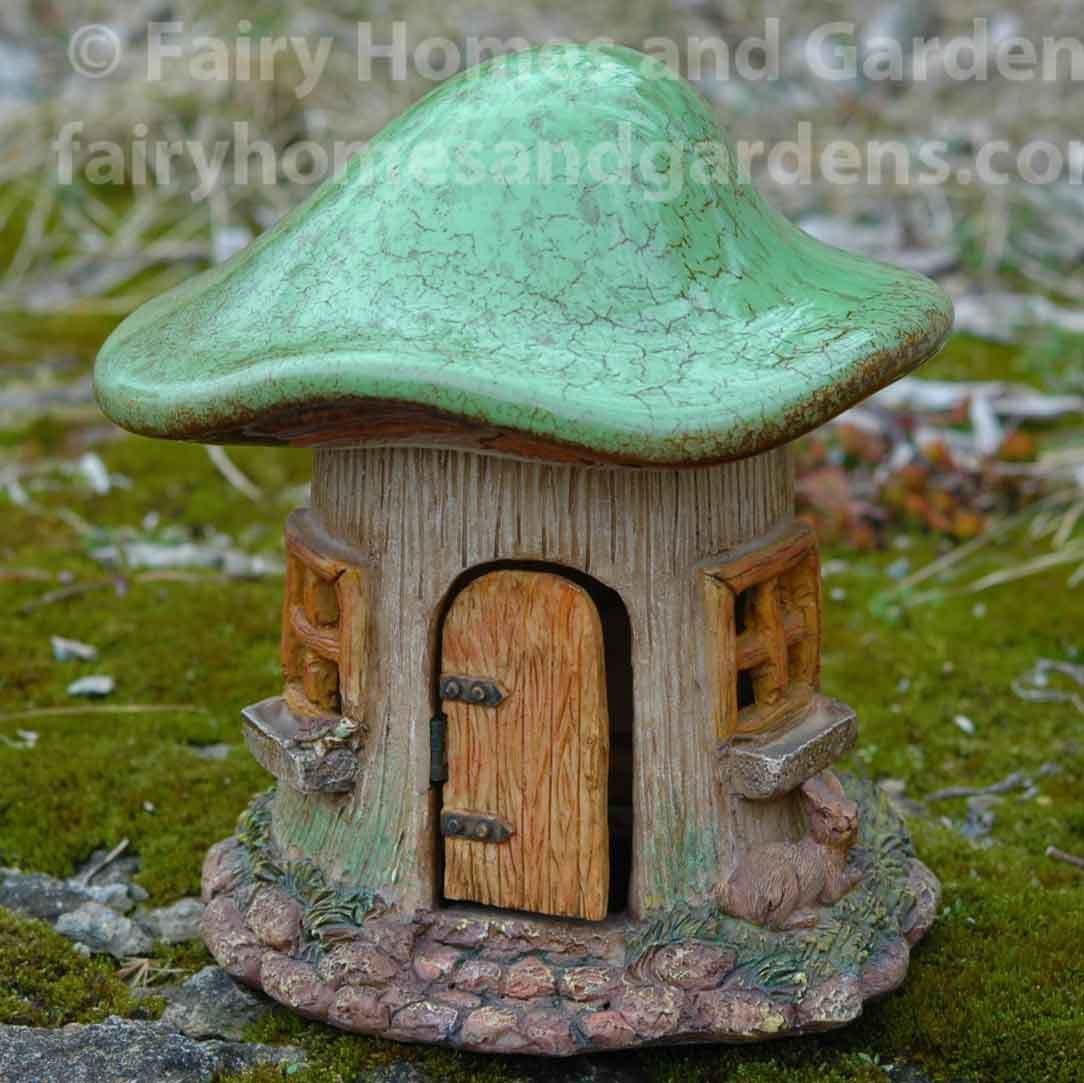 Glazed Top Mushroom Fairy House Pottery Houses Fairy House